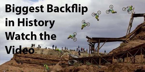 Worlds Biggest Mountain Bike Backflip in History