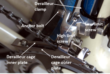 how to adjust front derailleur