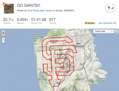 Strava Art - San francisco giants