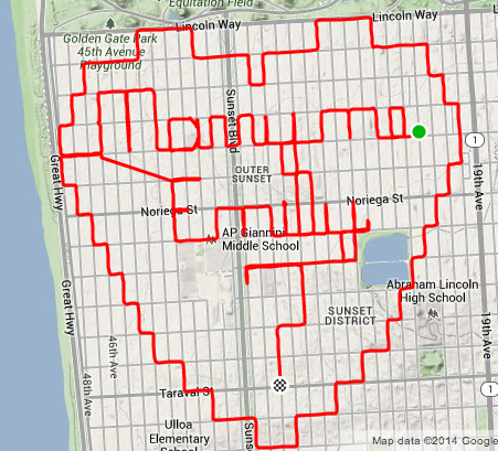 strava art - will you marry me