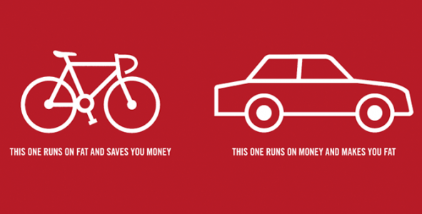 cycling saves money, biking runs on fat and saves you money