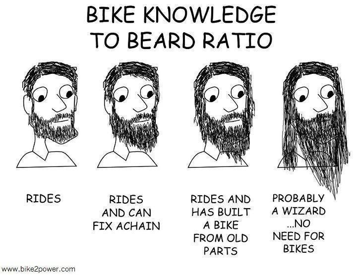 bike knowledge to beard ratio - DIY bike repair