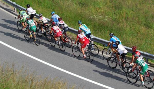 biking in large groups