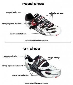 road vs tri shoe