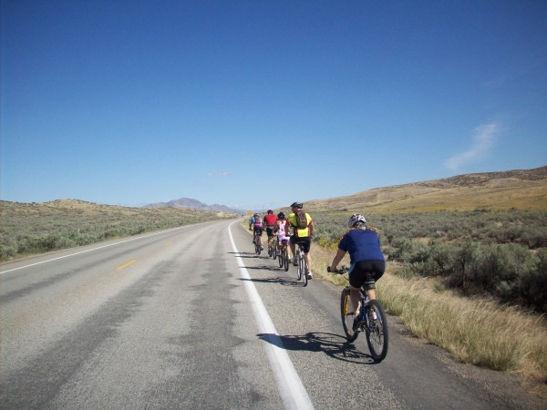 Single-file is a must on roads with high-speed traffic. Biking in large groups, group ride etiquette.