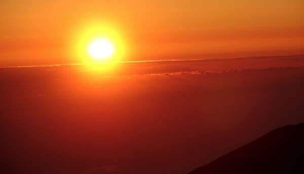 Descending Maui's Haleakala at Sunrise