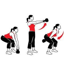 KB swings - Leg Workouts For Cyclists