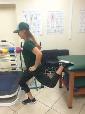 hip flexor stretch with variation