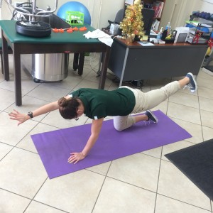 opp arm opp leg end position - Core Exercises For Cyclists