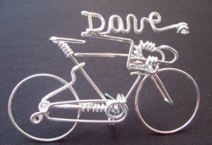 gifts for cyclists - handcrafted personalized name bike