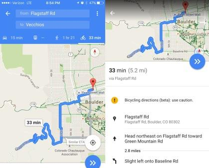 How Accurate are Google Maps Cycling Directions - I ... on google map from to, maps and stuff, maps of caves in colorado,