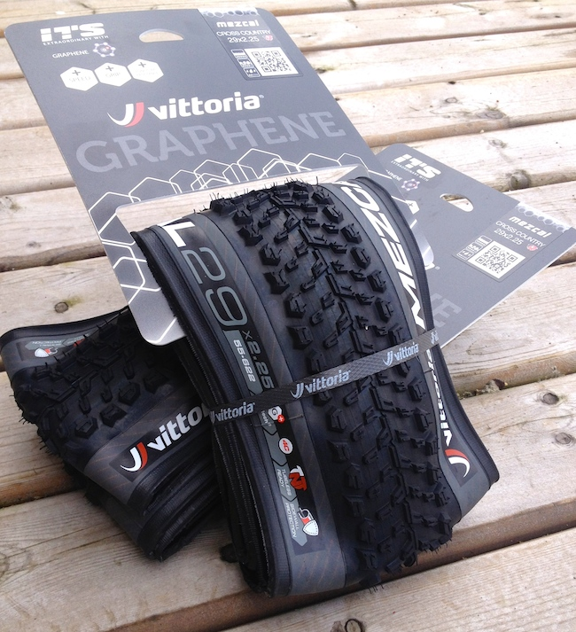 Vittoria makes no secret of their use of Graphene. Currently they are the only tire brand using it in the bike industry.