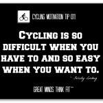 Cycling Can Be Difficult And Easy