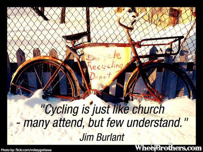 cycling is just like church