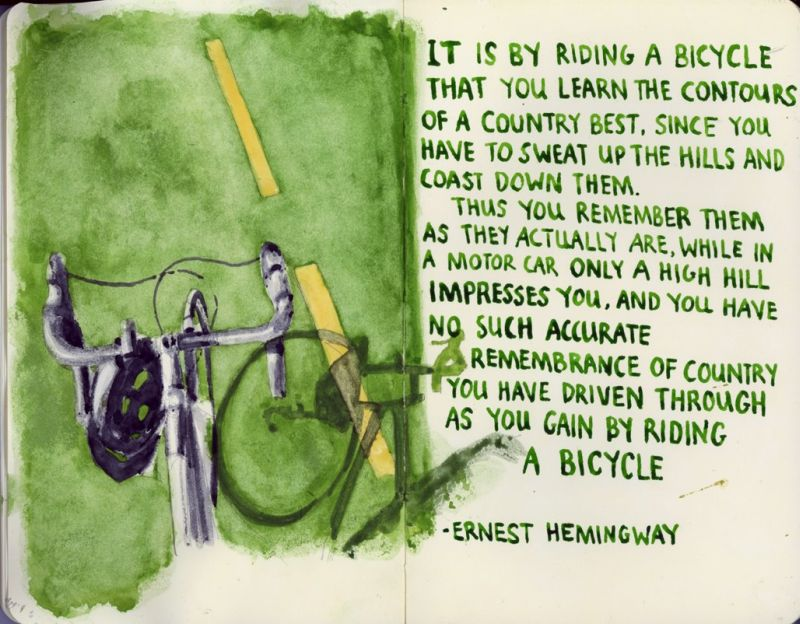 Cycling Quote By Ernest Hemingway I Love Bicycling