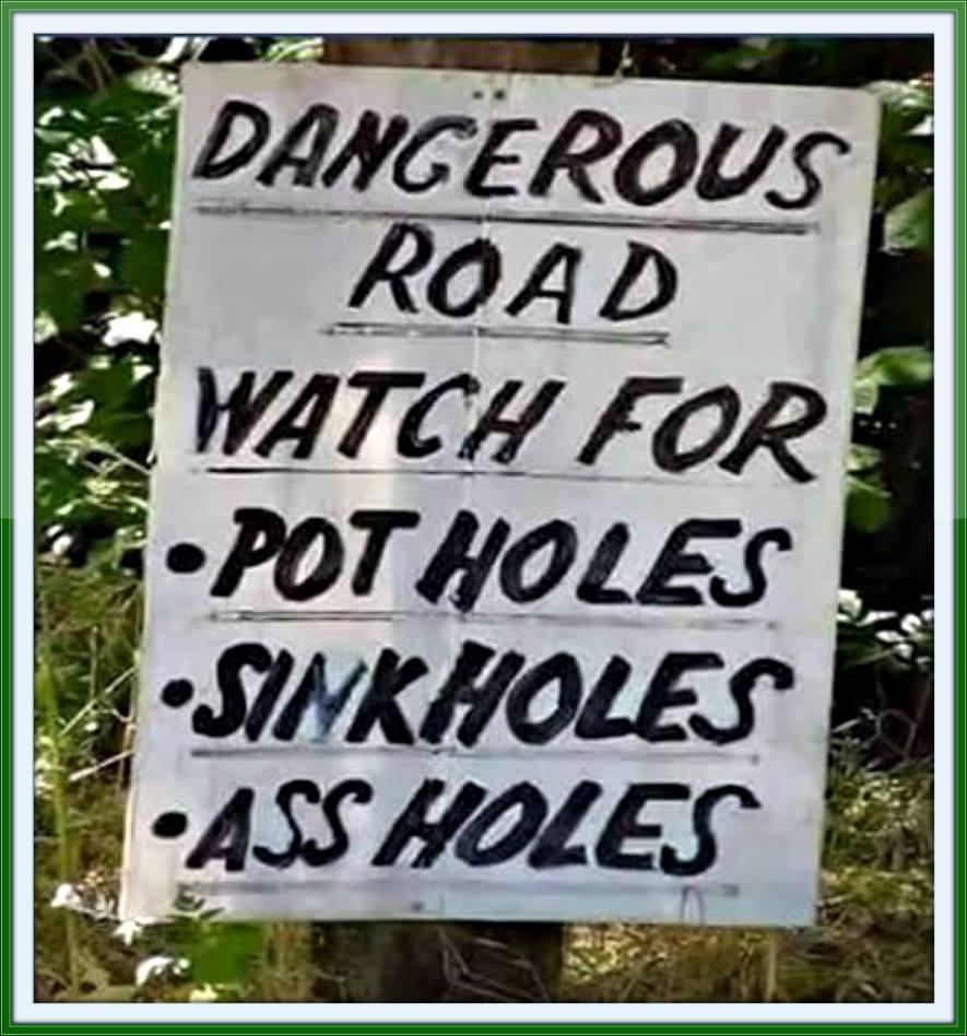 dangerous road watch for