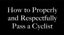 How To Pass A Cyclist
