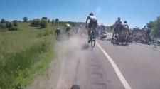Bike Racing Crash Video – Pileup of Pileups