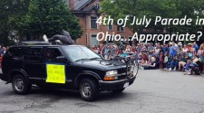 Anti-Cycling Display In Parade On 4th of July