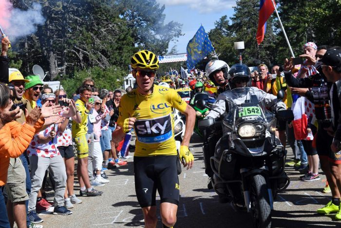 chris froome running