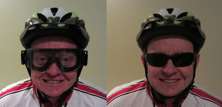 keep bugs out of your eyes while cycling