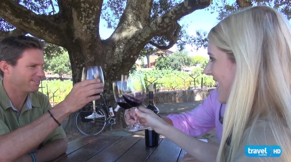 cycling and wine