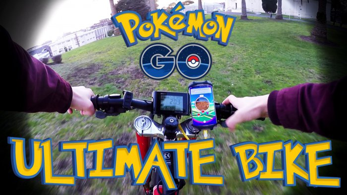 biking and pokemon go