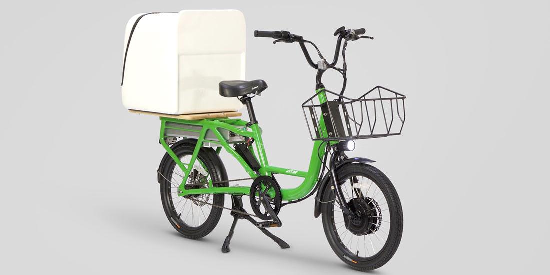 Green+Delivery e-bike +Pizza